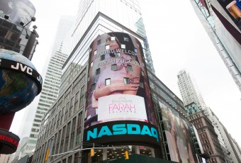 Words cannot describe the humbling feeling of seeing my name and image light up the NASDAQ Tower as the biggest thing in Times Square. I'm even dwarfing my dear Miranda Kerr on the (non-illuminated) H&M billboard next to me! HAHAHA sorry Miranda, I still love you xo