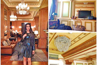 Intricate crown moldings and regal design elements at the Westin Palace Milan made me feel like a Queen!