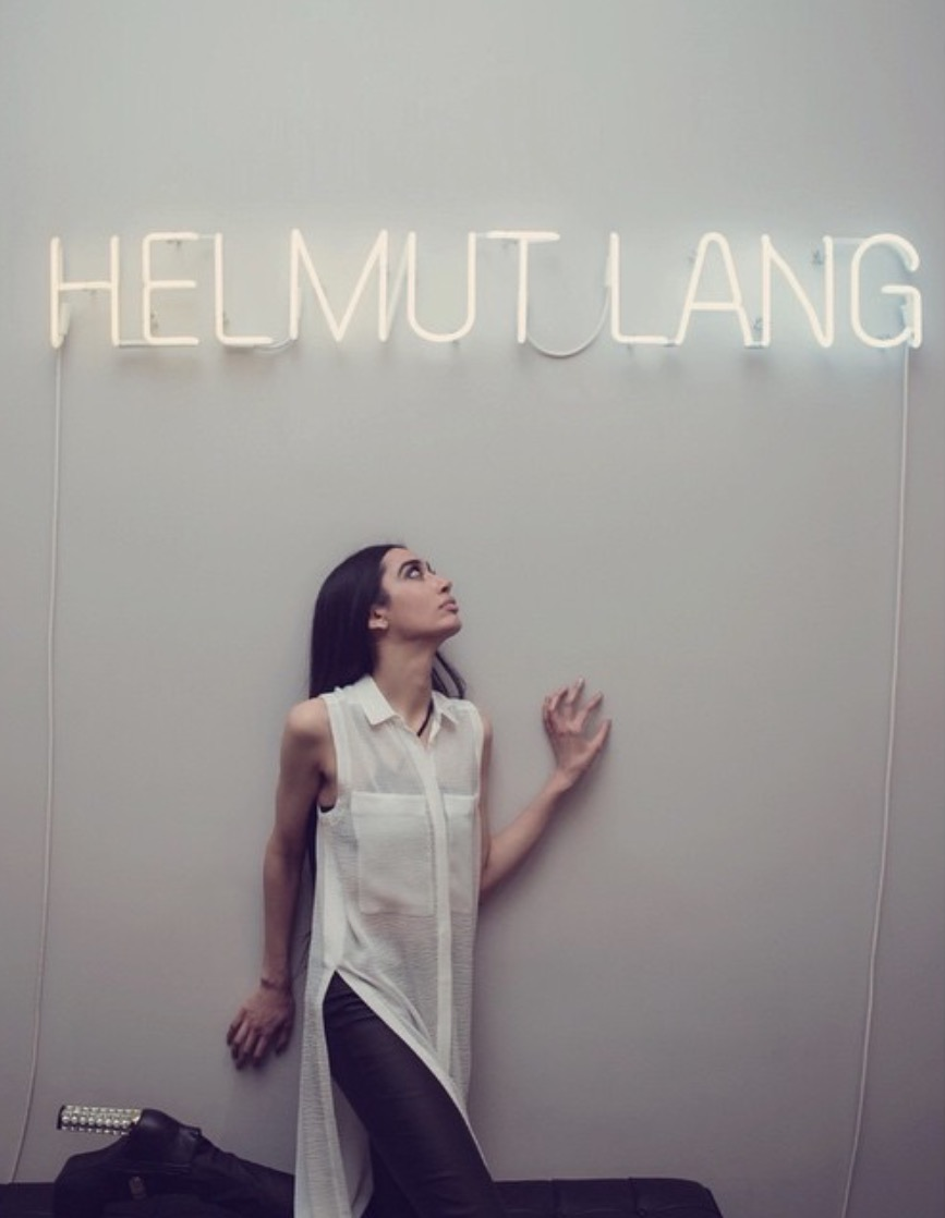 Wearing the Spring 2015 collection for my exclusive Helmut Lang photoshoot, styled by HL senior stylist Danielle.