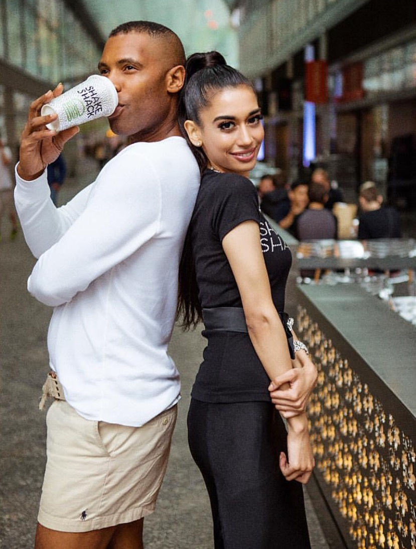 """With my dear """"sheikha"""" nyc socialite and celebrity public relations pro Victoria Hilton at the launch of my concrete collaboration at Shake Shack!"""