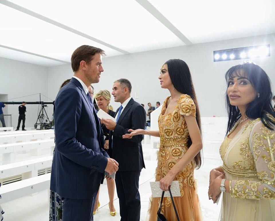 Standing on the runway having a nice chat (LOL!) with Mr. James Ferragamo at FERRAGAMO SS 2016 Milan Fashion Week while my pretty MAMA looks on haha! THANK YOU FERRAGAMO! (Photo credit: Gabriella Di Muro)