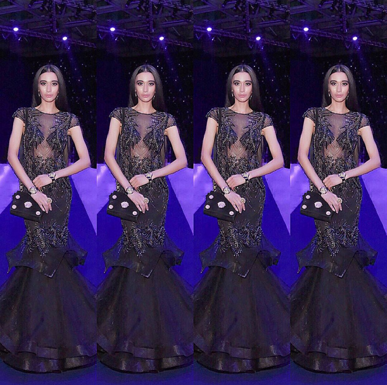 #VersaceDoll 👸🏻 Because four FARAHS are better than one. 😎 On the purple #Versace S/S 2017 runway, & I shine bright like a diamond! 💎✨🙏🏼 THANK YOU TO EVERYONE for making this possible in beautiful Milan! (Photo credit: Gabriela Di Muro) 👯