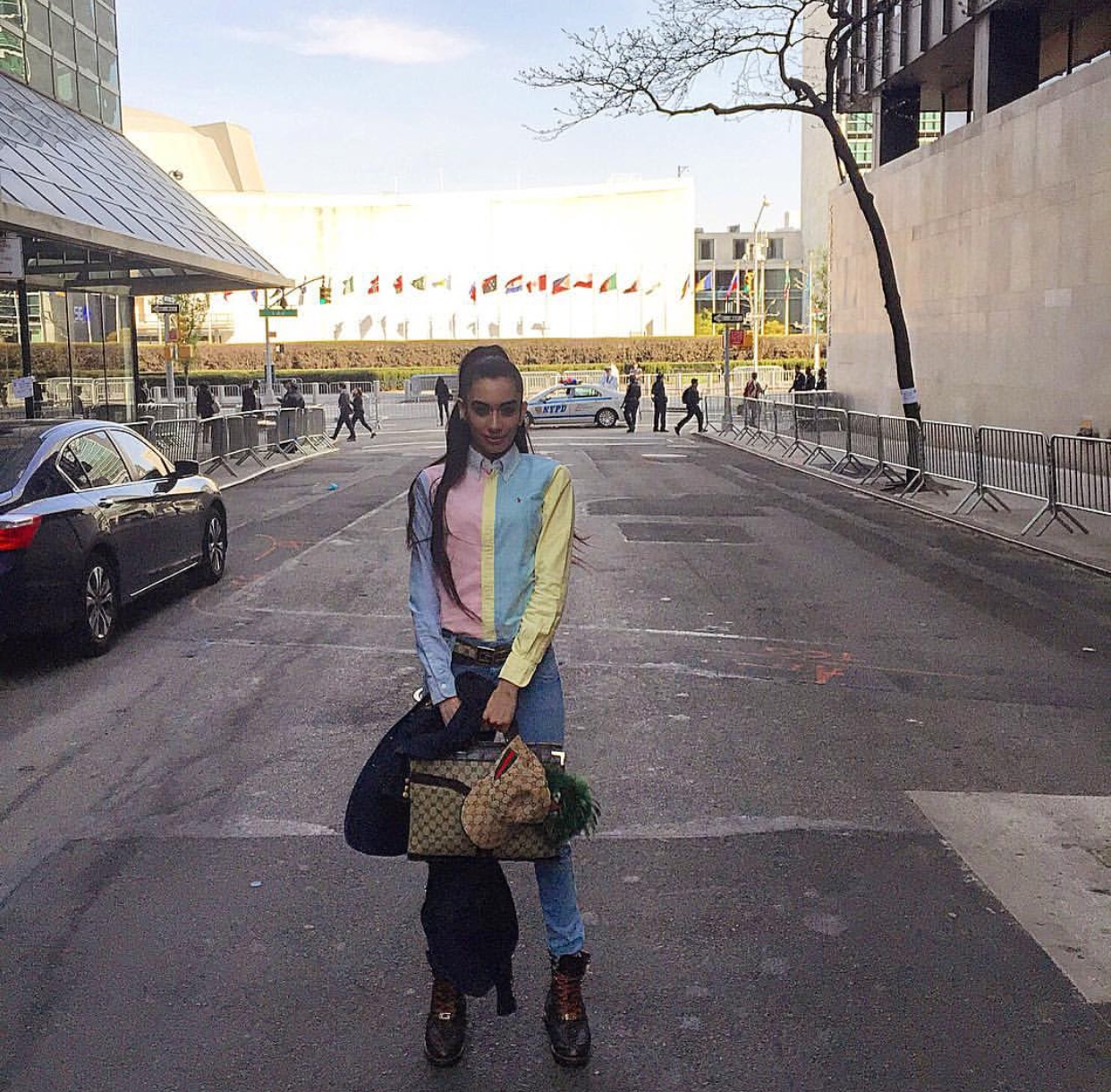 When they shut down the streets outside the United Nations but they only let Ambassadors & U.N. employees pass! I felt SO SPECIAL lol!