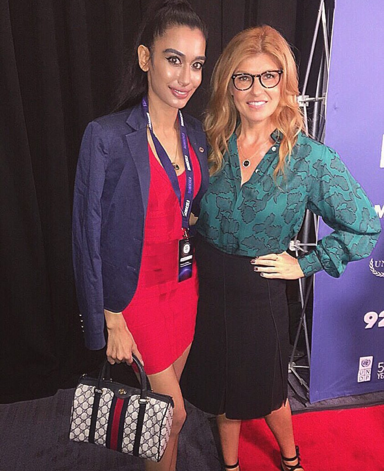 With the gorgeous and talented actress @conniebritton today at the #2030NOW #SocialGoodSummit as part of the United Nations General Assembly. THANK YOU CONNIE for the lovely discussion about women in the UN and how we can work together to empower women all over the world! 🌹